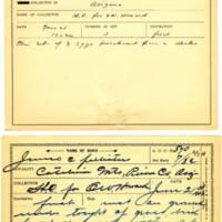Thomas Wilmer Dewing, egg card # 453