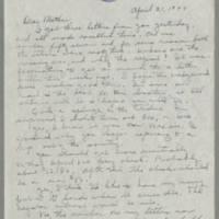 1944-04-21 Helen Fox to Bess Peebles Fox Page 1