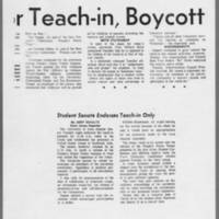 """1971-02-10 Daily Iowan Article: Plans Finalized for Teach-in, Boycott"""""""" Page 2"""