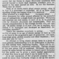 "1947-10-24 Burlington Hawk-eye Gazette Article: """"Thinking Out Loud: What of Atomic Energy?"""""