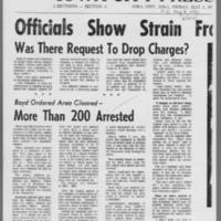 """1970-05-08 Iowa City Press-Citizen Article: """"""""Officials Show Strain From Long Week"""""""" Page 2"""