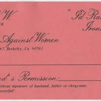 Ladies Against Women Membership Card