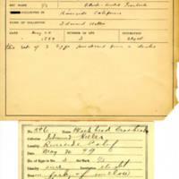Thomas Wilmer Dewing, egg card # 740u