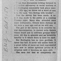"1951-10-03 Burlington Hawkeye Gazette Article: ""Flirting With Trouble"" Page 1"