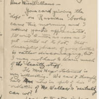 Robert Morriss Browning correspondence to Mabel C. Williams, May-July 1917