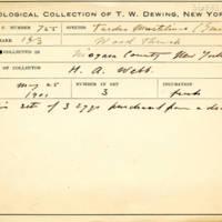 Thomas Wilmer Dewing, egg card # 828u