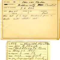 Thomas Wilmer Dewing, egg card # 354