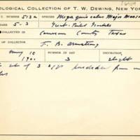 Thomas Wilmer Dewing, egg card # 689u