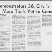 """1971-03-23 Daily Iowan Article: """"""""Demonstrators 36, City 1; More Trials Yet To Come"""""""""""