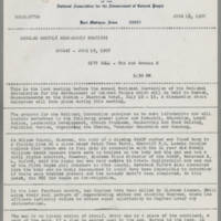 1967-06-15 Newsletter, Fort Madison Branch of the NAACP Page 1
