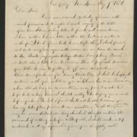 Benjamin F. Barge letter to Sallie J. Mowrer, 1856
