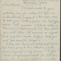 1917-12-16 Daphne Goodenough to Conger Reynolds  Page 1