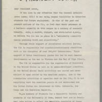 Open Letter to President Bowen