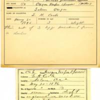 Thomas Wilmer Dewing, egg card # 721u