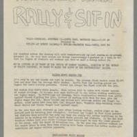 1969-11-13 'Fight Against Racism Rally & Sit-In' Page 1