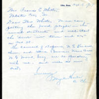 1917-10-18 Myrtle Harlan to Mrs. Francis E. Whitley