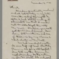 1941-11-14 Laura Davis to Lloyd Davis Page 1