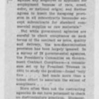"1953-07-09 Des Moines Register Article: ""Fair Employment in Government Business"" Page 1"
