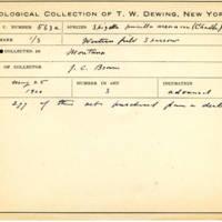 Thomas Wilmer Dewing, egg card # 448