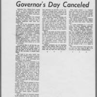 """1970-05-08 Daily Iowan Article: """"""""Governor's Day Canceled"""""""""""