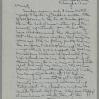 1943-02-14 Laura Davis to Lloyd Davis Page 1