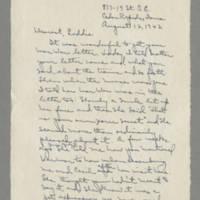 1942-08-12 Laura Davis to Lloyd Davis Page 1