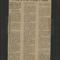 1971-05-03 Press Citizen Article 'Views of the Peacefest -From 5 Who Weren't There'