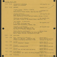 1972-05-05 Cinco de Mayo Conference Schedule of Events - Back
