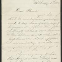 1862-02-07 William E. Thorpe to Alfred Thorpe Page 1