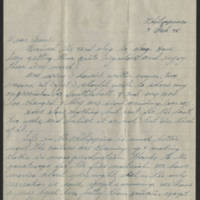 1945-02-04 Lt. Robert E. Porter to Dave Elder Page 1