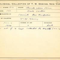 Thomas Wilmer Dewing, egg card # 756u