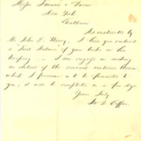 John L. Coffin, land agent in Davenport, Iowa, correspondence with land speculator Thomas Clark Durant in New York, part 1, 1859-1868