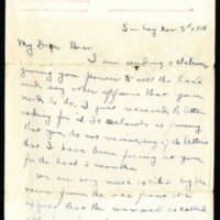 Walter Fox letters to his wife, November 1918-February 1919