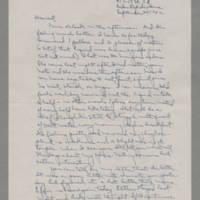 1942-09-25 Laura Davis to Lloyd Davis Page 1