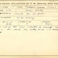 Thomas Wilmer Dewing, egg card # 707u