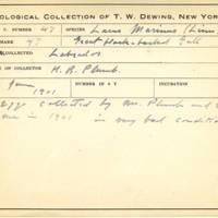 Thomas Wilmer Dewing, egg card # 033