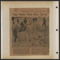 1971-02-03 Press-Citizen Photo: 'They Make Their Own 'Spring''