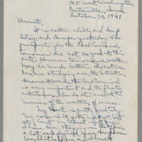 1941-10-30 Laura Davis to Lloyd Davis Page 1