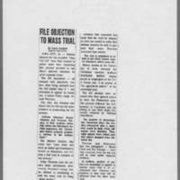 """1970-12-31 Des Moines Register Article: """"""""File Objection To Mass Trial"""""""""""