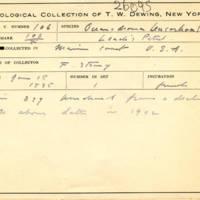 Thomas Wilmer Dewing, egg card # 065