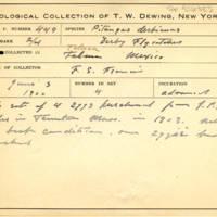 Thomas Wilmer Dewing, egg card # 342