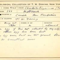 Thomas Wilmer Dewing, egg card # 314