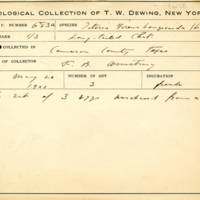 Thomas Wilmer Dewing, egg card # 791u