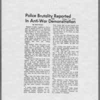 "1971-05-11 Daily Iowan Article: """"Police Brutality Reported In Anti-War Demonstration"""""