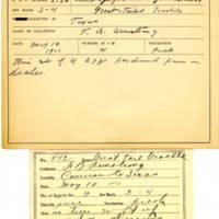 Thomas Wilmer Dewing, egg card # 715u