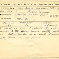 Thomas Wilmer Dewing, egg card # 654u