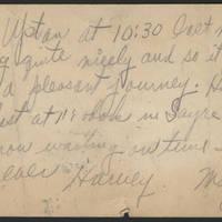 1919-05-12 Harvey Wertz to Miss Dorothy Wertz Postcard