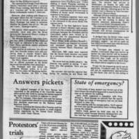 """1972-05-12 Daily Iowan Article: """"""""Protesters block I-80"""""""" Page 4"""
