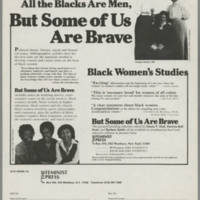 """""""""""All the Women Are White, All the Blacks Are Men, But Some of Us Are Brave"""""""""""