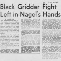 "1969-04-24 Daily Iowan Article: ""Black Gridder Fight Left in Nagel's Hands"""